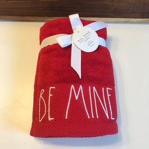 Rae Dunn New Red Be Mine Set of 2 Hand Towels